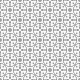 Vector Seamless Black and White dot pattern Background stock image
