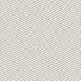 Vector Seamless Black and White Dotted Lines Maze Pattern Royalty Free Stock Photos