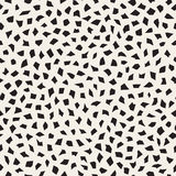 Vector Seamless Black And White Edgy Jumble Shapes Mosaic Pattern Stock Photography