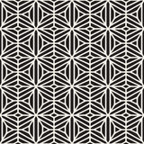 Vector Seamless Black And White Ethnic Geometric Floral Pattern Royalty Free Stock Photography