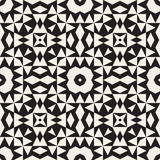 Vector Seamless Black And White Ethnic Tribal Geometric Triangles Star Pattern Royalty Free Stock Images