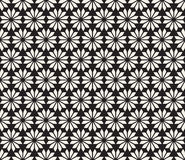 Vector Seamless Black and White Floral Pattern Stock Images