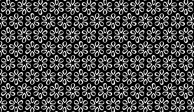 Vector Seamless Black and White flower pattern Background royalty free stock image