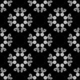 Vector Seamless Black and White flower pattern Background royalty free stock photos