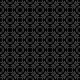 Vector Seamless Black and White flower pattern Background stock photo