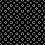 Vector Seamless Black and White flower pattern Background stock photography