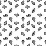 Vector Seamless Black and White flower pattern Background royalty free stock photo
