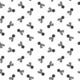 Vector Seamless Black and White flower pattern Background stock images