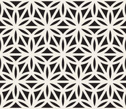 Vector Seamless Black And White Geometric Circle Triangle Shape Pattern Stock Image