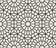Vector Seamless Black And White Geometric Lace Grid Pattern Stock Photo