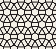 Vector Seamless Black and White Geometric Lace Pattern Royalty Free Stock Photos