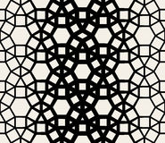 Vector Seamless Black & White Geometric Lace Pattern Royalty Free Stock Images