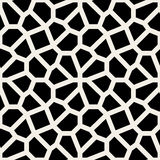 Vector Seamless Black and White Geometric Lace Pavement Pattern Stock Image