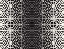 Vector Seamless Black And White Geometric Line Grid Spiderweb Shape Pattern Stock Photography