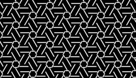 Vector Seamless Black and White Geometric line Pattern Background. Vector Seamless Black and White Geometric Pattern Background . background design with texture stock illustration