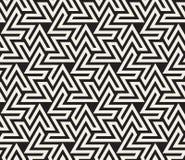 Vector Seamless Black And White  Geometric Line Triangle ZigZag Shape Islamic Pattern Stock Photo