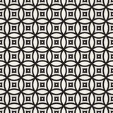 Vector Seamless Black And White Geometric Lines Pattern. Abstract Geometric Background Design. Vector Seamless Black And White Geometric Rounded Lines Pattern stock illustration