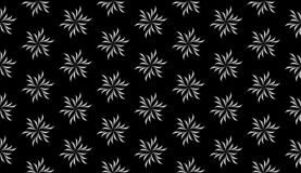 Vector Seamless Black and White Geometric Pattern Background stock image