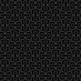 Vector Seamless Black and White Geometric Pattern Background royalty free stock photography