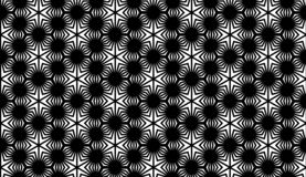 Vector Seamless Black and White Geometric Pattern Background royalty free stock photos