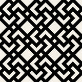 Vector Seamless Black and White Geometric Rhombus Cross Square Tile Pattern Stock Image