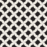 Vector Seamless Black And White  Geometric Rounded Arcs Pattern Stock Image