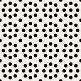 Vector Seamless Black and White Geometric Rounded Circles Retro Polka Dots   Pattern Royalty Free Stock Photos