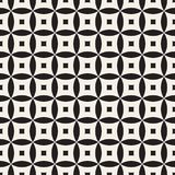 Vector Seamless Geometric Rounded Lines Pattern. Abstract Geometric Background Design Royalty Free Stock Image