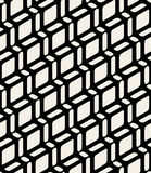 Vector Seamless Black and White Geometric Rounded Rectangle Diagonal Lines Royalty Free Stock Image