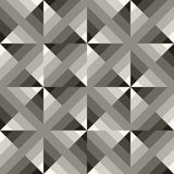 Vector Seamless Black & White Geometric  Square Gradient Diagonals Pattern Stock Images