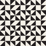 Vector Seamless Black and White Geometric Square Triangle Tessellation Pattern Royalty Free Stock Image
