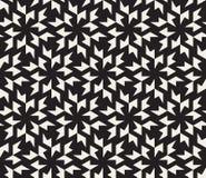 Vector Seamless Black and White Geometric Tessellation Pattern Royalty Free Stock Photo