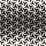 Vector Seamless Black And White  Geometric Triangle Shape Tessellation Halftone Line Grid Pattern Royalty Free Stock Photography