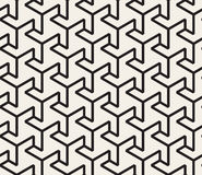 Vector Seamless Black And White  Geometric Triangle Shape Tessellation Line Pattern Royalty Free Stock Photography