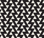 Vector Seamless Black and White Geometric Triangle ZigZag Line Tiling Pattern Royalty Free Stock Image