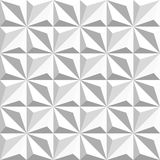 Vector Seamless Black And White Geometric Triangular Square Shaded Pattern Stock Image