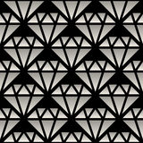 Vector Seamless Black And White Gradient Crystal Line Art Pattern Stock Photo