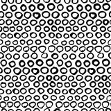 Vector seamless black and white graphic hand drawn pattern. Royalty Free Stock Images