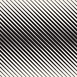 Vector Seamless Black and White Halftone Diagonal Stripes Pattern Stock Photography