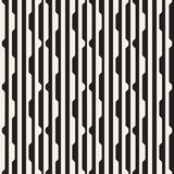 Vector seamless black and white halftone lines grid pattern. Abstract geometric background design. stock illustration