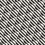 Vector seamless black and white halftone lines grid pattern. Abstract geometric background design. Royalty Free Stock Images