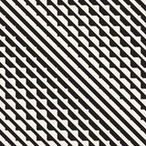 Vector seamless black and white halftone lines pattern. Abstract geometric retro background design. Vector seamless black and white halftone lines grid pattern stock illustration