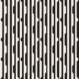 Vector seamless black and white halftone lines pattern. Abstract geometric retro background design. Vector seamless black and white halftone lines grid pattern vector illustration