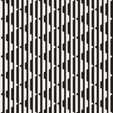 Vector seamless black and white halftone lines pattern. Abstract geometric retro background design. Vector seamless black and white halftone lines grid pattern royalty free illustration