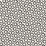 Vector Seamless Black and White Hand Drawn Circles Pattern. Abstract Freehand Background Design Stock Illustration