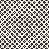 Vector Seamless Black and White Hand Drawn Circles Pattern. Abstract Geometric Background Design Stock Illustration