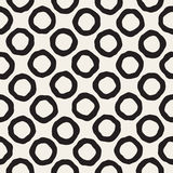 Vector Seamless Black and White Hand Drawn Circles Pattern. Abstract Geometric Background Design Vector Illustration