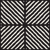 Vector Seamless Black And White Hand Drawn Diagonal Lines Grid Pattern Royalty Free Stock Photography