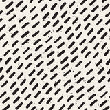 Vector Seamless Black And White Hand Drawn Diagonal Lines Grungy Pattern. Abstract Freehand Background Design Royalty Free Stock Image