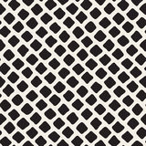 Vector Seamless Black and White Hand Drawn Diagonal Rectangles Pattern Royalty Free Stock Photos